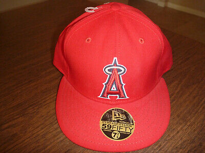 ff4f590a4bf LOS ANGELES ANAHEIM Angels New Era 59FIFTY Cool Base Red Hat Fitted ...