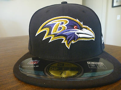 online store 80592 c1bd7 BALTIMORE RAVENS NEW ERA 59FIFTY NFL ON-FIELD SIDELINE BLACK FITTED HAT Sz  7 5