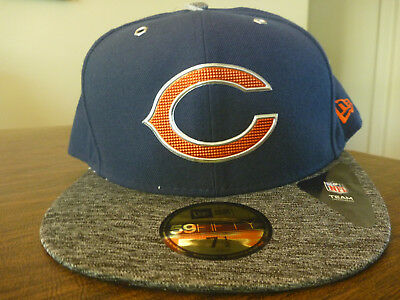 super popular 491fd 059c8 CHICAGO BEARS NEW ERA 59FIFTY NFL 2016 DRAFT NAVY BLUE GRAY FITTED CAP Sz 7