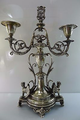 Very Rare Antique Austrian Stunning Solid Silver Candle Stick Holders