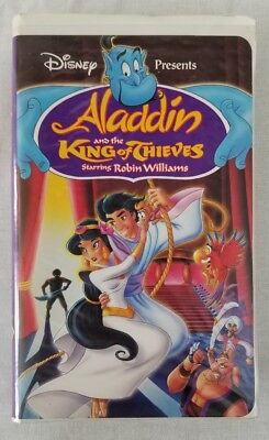 Disney Aladdin and the King of Thieves starring Robin Williams - VHS, used, play