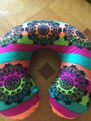 Memory Foam U Shaped Colorful Stripes Travel Pillow Colored Neck Support Pillow