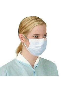Earloop Face Mask Dispoble Surgical Dental Anti-Dust 3-Ply, Blue 50 Masks/box