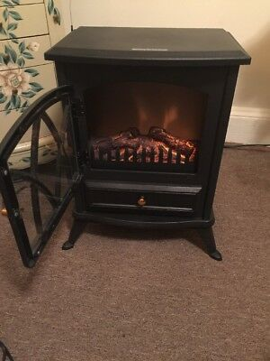 VonHaus Free Standing Electric Stove Heater Portable Home Fireplace