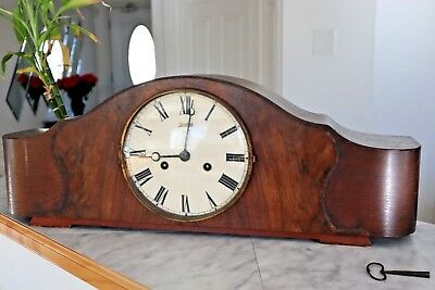 Vintage Junghans  Mantle Clock with pendulum W278 Movement With Key (Germany)