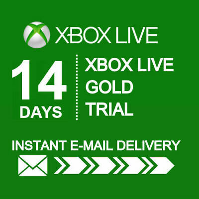 14 DAY LIVE GOLD Xbox One/360 TRIAL MEMBERSHIP CODE FAST DISPATCH