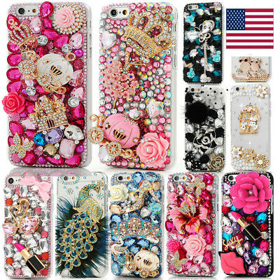 Handmade Lady's Diamond Glitter Bling 3D Hard Phone Case Cover For iPhone Xs Max