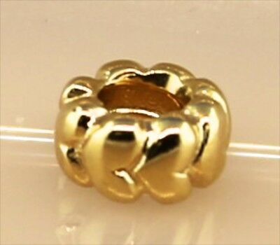 Pandora ALE Spacer Love Hearts Retired Bead Charm in 14K Yellow Gold