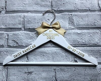 Personalised Hanger Baby's First Or My First Coming Home Outfit Christening Xmas