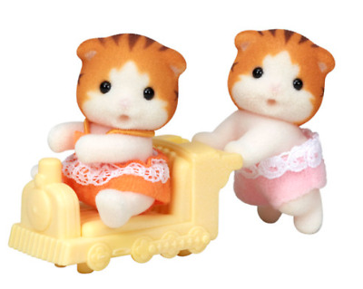 Sylvanian Families Maple cat Twin baby set Ni-110 Epoch japan NEW tracking