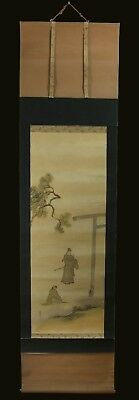 Meiji Era (1868-1912) - Beautiful Antique Japanese Hanging Scroll