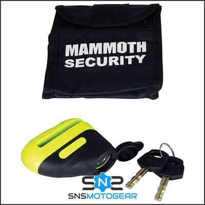 Mammoth Blast Motorcycle Motorbike Security Disc Lock - 6mm Hardened Steel Pin