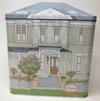 Vintage 1990 SUTTER HOME WINERY Victorian House Tin Napa Valley California