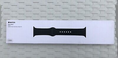NEW SEALED Genuine Apple Watch Sport Band Strap Black For 42mm Or 44mm