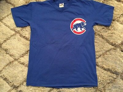Kerry Wood Chicago Cubs Majestic Blue T-Shirt Mens