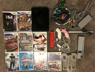 Nintendo Wii Console Call Of Duty Bundle W/ Games, Controller, & Extra's
