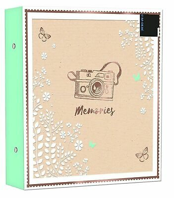 "6x4"" Photos Large Slip In Photo Album Holds 500 Photos Memorie Design Ringbinder"