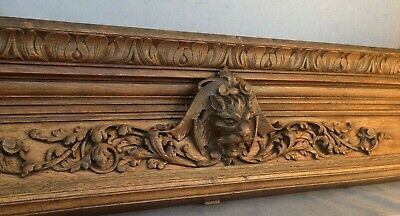 Huge heavy antique french furniture top 19th century Henri II style lion head