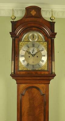 INLAID MAHOGANY LONGCASE GRANDFATHER CLOCK - Woodcock , London