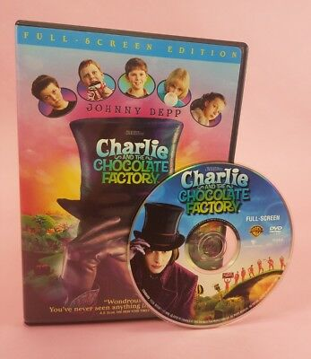 Charlie and the Chocolate Factory (DVD, 2005, Full Frame) free shipping