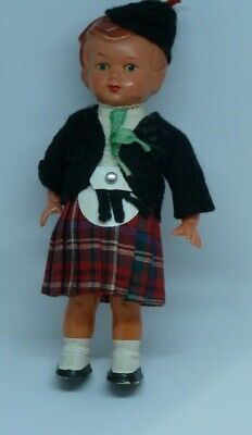 Antique Wind Up Doll Toy Label West Germany  Original Clothes no Key