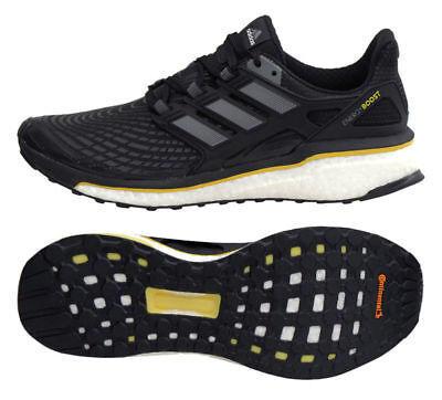 Mens Adidas Energy Boost Black Athletic Sport Running Shoes CQ1762 Sizes 8-12