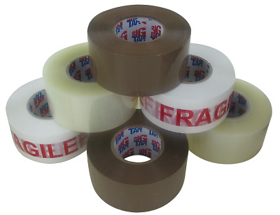 Clear / Buff Brown Strong Parcel Packing Packaging Tape Extra Long 48Mm X 150M