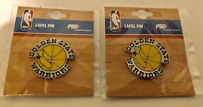 A Lot Of (2) Nba Golden State Warriors Retro Style 2 Logo Lapel Pins (Nwt)