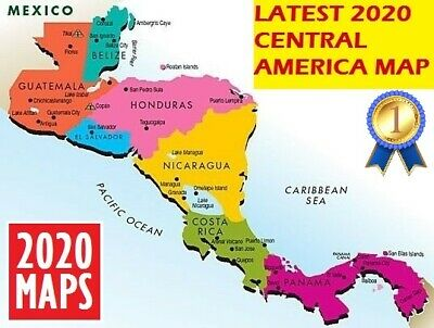 Latest Central America Map 2019 for Garmin GPSs