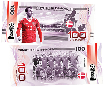 "100 rubles commemorative banknote /""Mexico/"" series-2018 FIFA world Cup teams New"