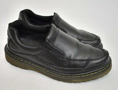bae5ca484d1 Dr Martens Men s Utah Pebble Black Leather Slip On Loafers Air-Cushioned  Size 8