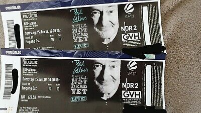 2x Phil Collins Tickets Hannover Sa, 15.06.19