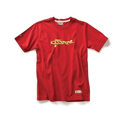 Red Canoe Cessna Plane T-Shirt - Red