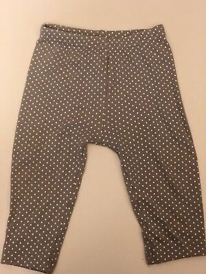 Just One You by Carter's Baby Girl's size 9 Months Leggings Grey White Polka Dot