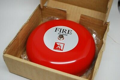 """6"""" Red Fire Alarm Bell 24VDC 15mA 95dB Part # MBF-6WE"""