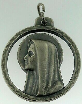 18K solide or jaune miraculeuse médaille Vierge Marie 0.94 MADE IN ITALY Madonna