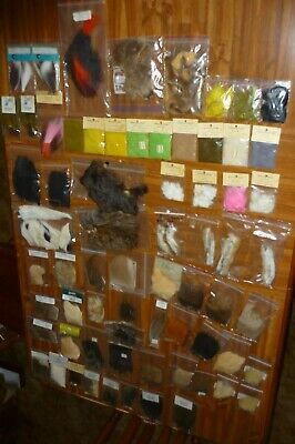 Angelsport-Fliegen-Bindematerialien HUGE Lot FLY Tying Material Feathers Mustad Hooks Dubbing Fur Fly Tyer Streamers