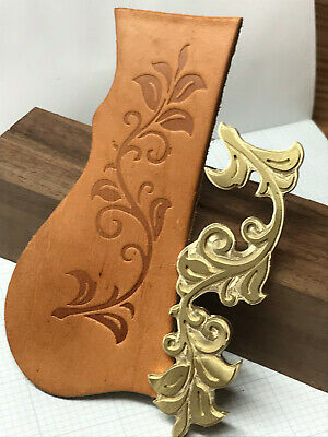 ROSE LEAVES Leather Bookbinding Finishing tool Stamp EMBOSSING biscuit die ST7