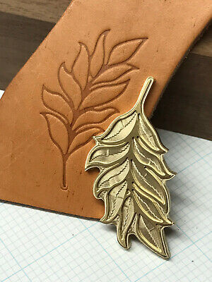 TROPICAL LEAF Leather Bookbinding Finishing tool Stamp EMBOSSING die ST7