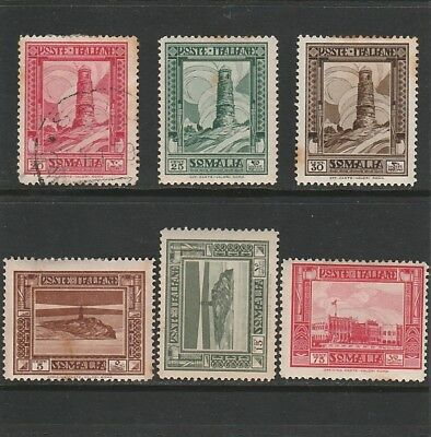 Italy - Somalia - 6 X Mint & Used Stamps