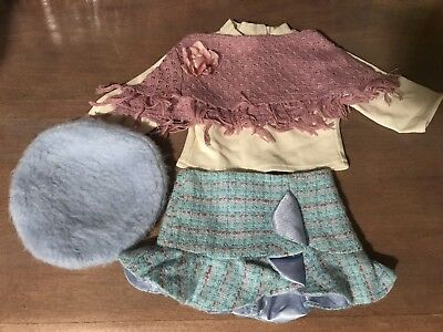 American Girl Doll Clothes JLY SIGHTSEEING OUTFIT Boots Shawl Beret AG GIFT BOX