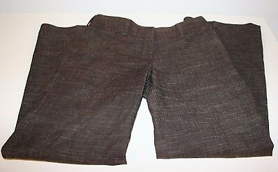 I.N.SAN FRANCISCO Stretch Brown Solid Trousers Dress Career Pants Women Size 3