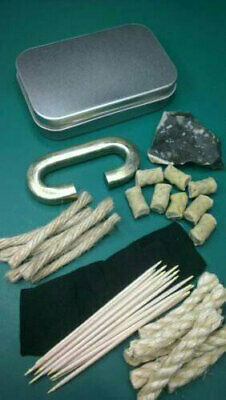 Traditional Flint And Steel Deluxe Fire Lighting Kit - Bushcraft Camping Prepper