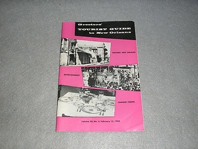 1960 New Orleans Louisiana Tourist Guide Tourism Travel Book Illstrd w/Map & Ads