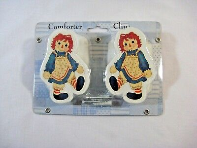 NOS Raggedy Ann Wall Comforter Clips Sealed