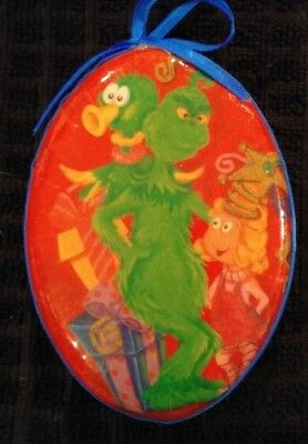 Very Rare Set of 9 Dr Seuss Grinch Ornaments HAVE A WUBBULOUS HOLIDAY circa 2000