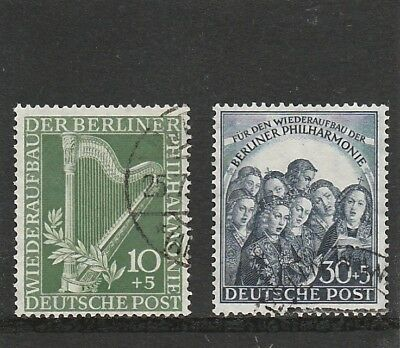 Germany - Berlin - 1950 - Philharmonic Orchestra - Set (2V) - F.used/Not Hinged