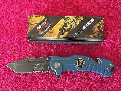 MTech Xtreme MX-A810BL Spring Assist Tactical Rescue Knife