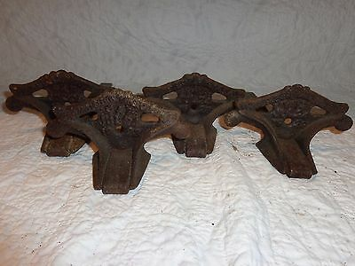 Lot of 4 Vintage Cast Iron Snow Birds Roof Guards, Architectural Salvage,Siegar