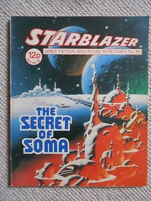 Starblazer Space Fiction Adventure In Pictures Comic No.16  1980